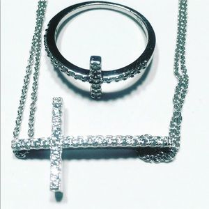 New 925 Sterling Silver Bracelet And Ring Set